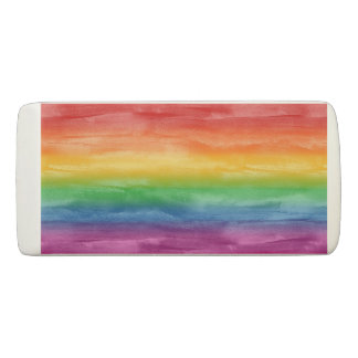 Aquarell-Regenbogen-Streifen Radiergummis 0