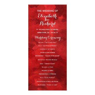Aquarell-Romance Hochzeits-Programme Personalisierte Werbekarte