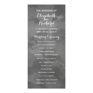Aquarell-Romance Hochzeits-Programme Werbekarte