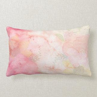 Aquarell-rosa Blumenhintergrund Lendenkissen