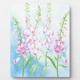 Aquarell-rosa Fingerhüte Fotoplatte