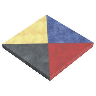 Aquarell-Seesignal-Seeflagge Galerieleinwand