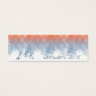 Aquarell-Sonnenaufgang WSRA Mini Visitenkarte