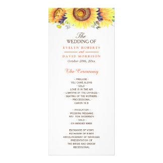 Aquarell-Sonnenblume-rustikales schickes Werbekarte