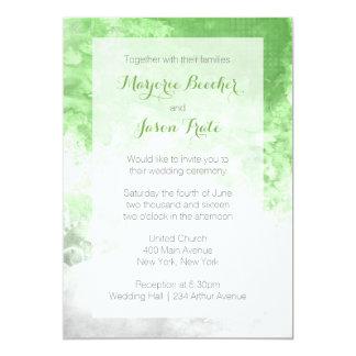 Aquarell-Strudel-Hochzeits-Einladung - Grün Karte