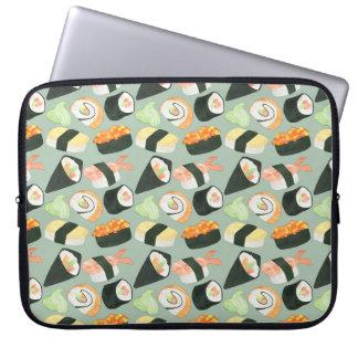 Aquarell-Sushi-Muster Laptop Sleeve