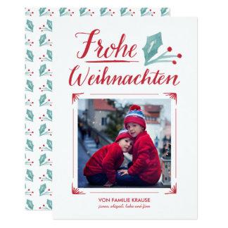 Aquarell u. Kalligraphie | Frohe Weihnachten 12,7 X 17,8 Cm Einladungskarte