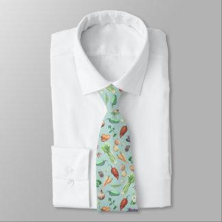 Aquarell-Veggies-u. Gewürz-Muster Krawatte