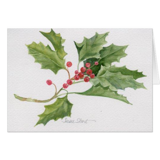 Aquarell-Weihnachtskarte 09CCS2-6 Karte