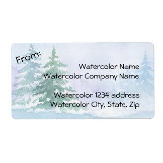 Aquarell-Winter-Kiefer-Adresse