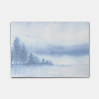 Aquarell-Winter-Kiefer Post-it Klebezettel