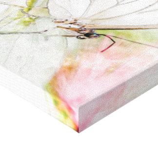 """Aquarelle blanche de papillon (24,00"""" x 16,00""""), toiles tendues sur châssis"""