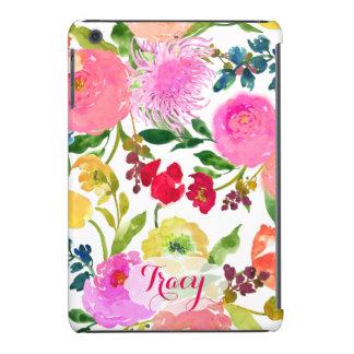 Aquarelle/Ranunculus floraux de PixDezines Coque iPad Mini Retina