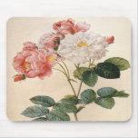 Aquarelle rose Mousepad de cru Tapis De Souris