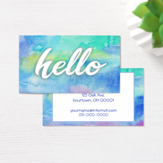 Aquarellfarbe Visitenkarte