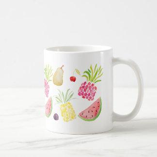 Aquarellfruchtkirschananaswassermelone Kaffeetasse