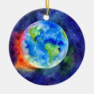 Aquarellmalerei von Erde Keramik Ornament