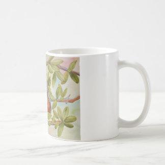 Aquarellmalerei von Robin Beeren essend Kaffeetasse