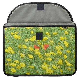 Aquarellmohnblumen Sleeve Für MacBook Pro