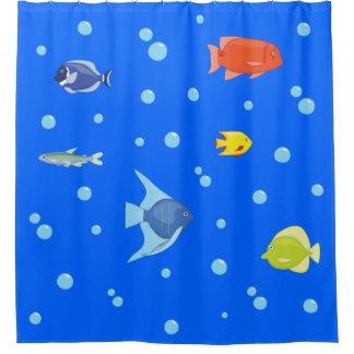 Aquarium-Fische Duschvorhang