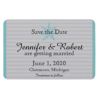 Aquastarfish-Strand-Hochzeit Save the Date Magnet