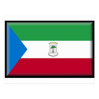 Äquatoriale Guinea-Flagge Postkarte