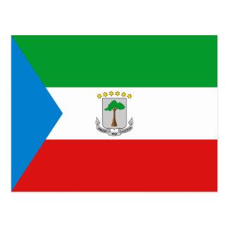 Äquatoriale Guinea-Flaggen-Postkarte Postkarte