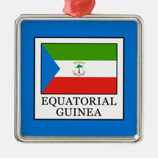 Äquatoriale Guinea Silbernes Ornament