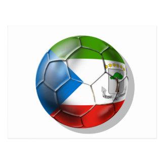 Äquatorialer Guinea-Weltfußball 2014 Brasilien Postkarte