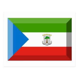 Äquatoriales Guinea-Flaggen-Juwel Postkarte