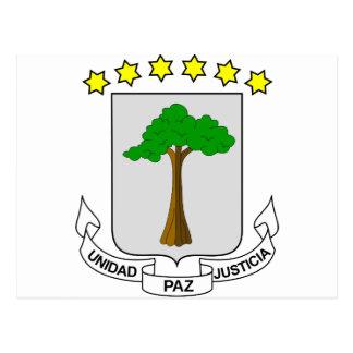 Äquatoriales Guinea-Wappen GQ Postkarte