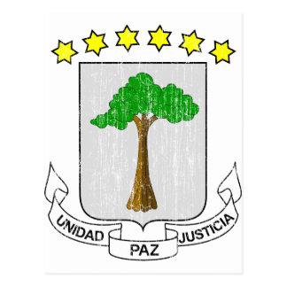 Äquatoriales Guinea-Wappen Postkarte