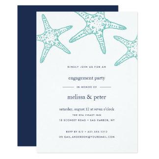 Aquau. Marinestarfish-Verlobungs-Party Einladung
