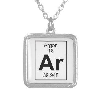 AR - Argon Versilberte Kette