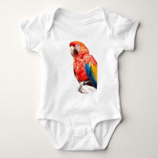 Ara Macawpapagei auf seiner Stange Baby Strampler