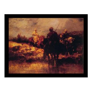 Araber Adolf Schreyer zu Pferd Postkarte