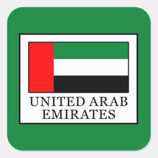 Arabische Emirate Quadratischer Aufkleber