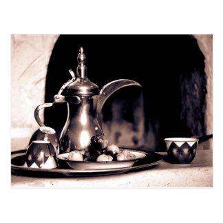 Arabische Kaffeetopfpostkarte Postkarte