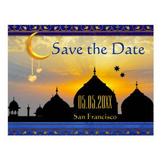 Arabische Nachtfeenhafte Geschichten-Save the Date Postkarte