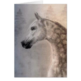 Arabische Pferdegruß-Karte Grußkarte