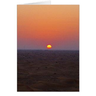 arabischer Sonnenuntergang Karte