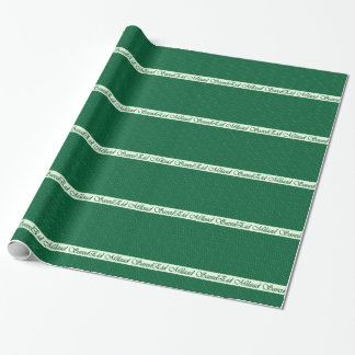 Arabisches Geburtstags-Grün-Tupfen-Packpapier Geschenkpapierrolle