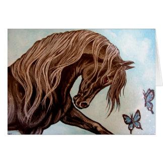 Arabisches Pferd u. Schmetterlinge Karte