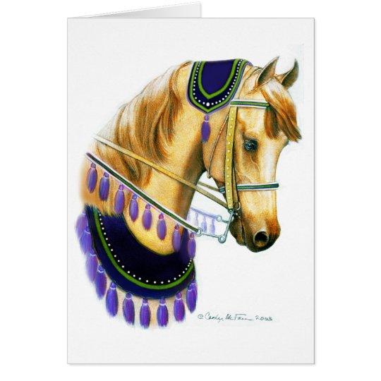 Arabisches Show-Pferd in der Kostüm-Karte Grußkarte