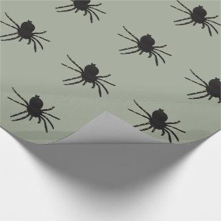 Araignée de veuve noire papier cadeau