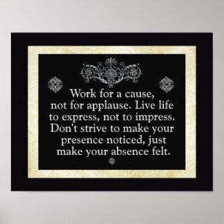 Arbeit für eine Ursache --- Kunst-Druck Poster