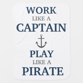 Arbeit wie ein Kapitän Nautical Nursery Baby Babydecken