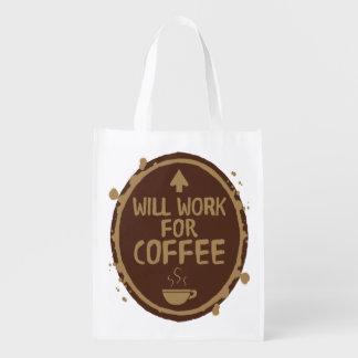 Arbeitet für Kaffee Tragetasche