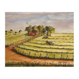 Arbeitsbauernhof-Malerei Holzleinwand