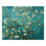 Arbre d'amande de floraison par Van Gogh Poster
